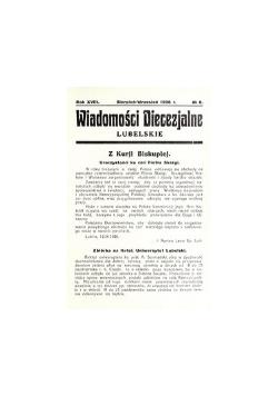 Wiadomości Diecezjalne Lubelskie Nr.8,1936r.