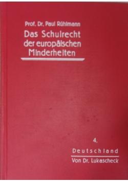 Das Schulrecht der europäischen Minderheiten, 1930r.