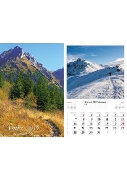 Kalendarz 2019 Tatry 7 planszowy RADWAN