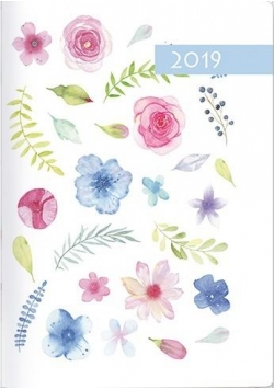 Kalendarz 2019 B7 Kolorowy akwarela