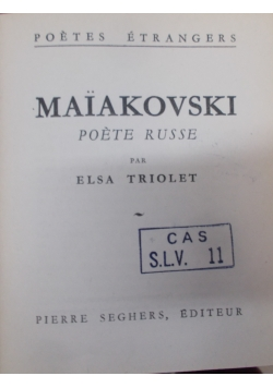 Maiakovski poete russe, 1945 r.
