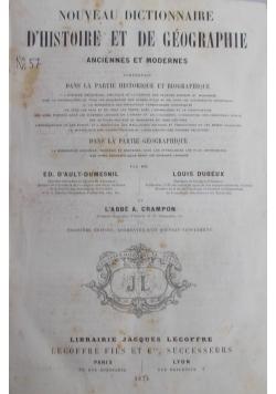 Dhistoire et de geographie , 1874 r.