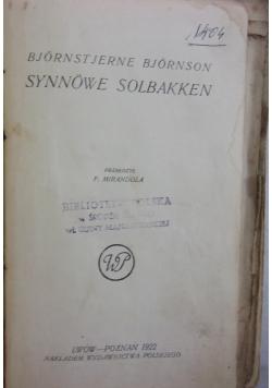 Synowie Solbakken, 1922 r.
