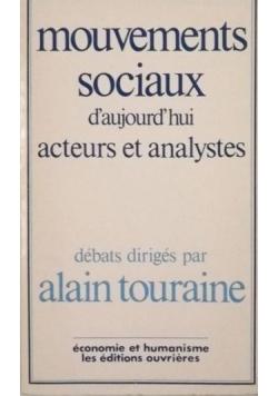 Touraine Alain - Mouvements Sociaux D' Aujourd' hiu