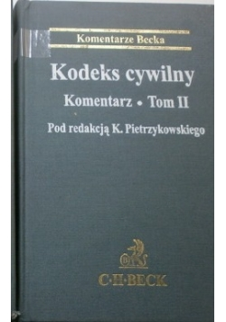 Kodeks cywilny. Komentarz, Tom II