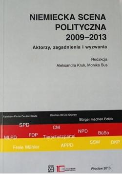 Niemiecka scena polityczna 2009-2013 Aktorzy, zagadnienia i wyzwania