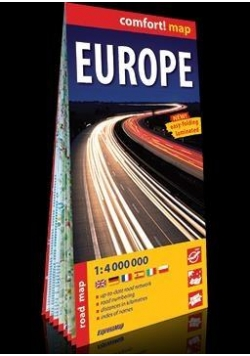 Comfort! map Europe 1:4 000 000 road map w.2018