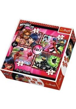 Puzzle 4w1 Przyjaźń i przygoda TREFL