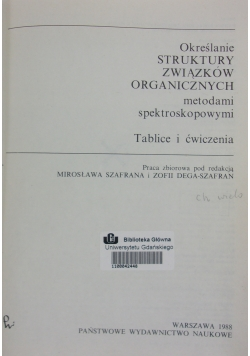 Określanie struktury związków organicznych