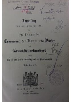 Anweisung, 1906 r.