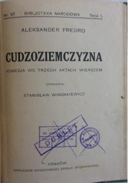 Cudzoziemczyzna, 1927 r.