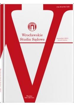 Wrocławskie studia sądowe 1/2013, styczeń-marzec
