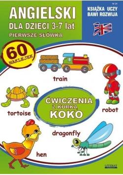 Angielski dla dzieci z.24 3-7 lat Ćw. kurką Koko
