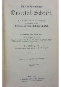 Theologisch=praktische Quartal-Schrift, 1896r.