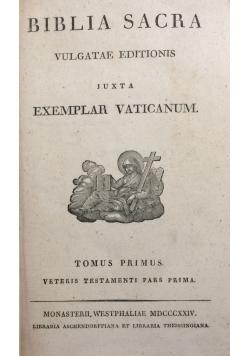 Biblia Sacra. Vulgatae Editionis, 1824r.