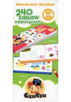 Akademia CzuCzu dla dzieci od 3-4 lat 240 zabaw edukacyjnych