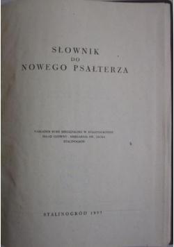 Słownik do Nowego Psałterza