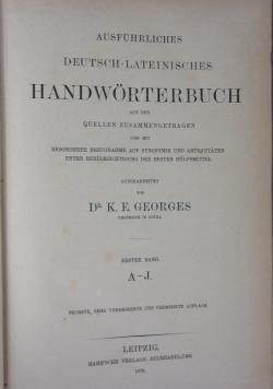 Ausfuhrliches Deutsch-Laateinisches  1870r.