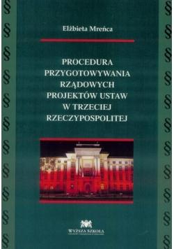 Procedura przyg. rządowych projekt. ustaw w III RP
