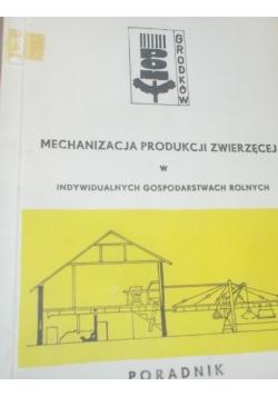 Mechanizacja produkcji zwierzęcej w indywidualnych gospodarstwach rolnych