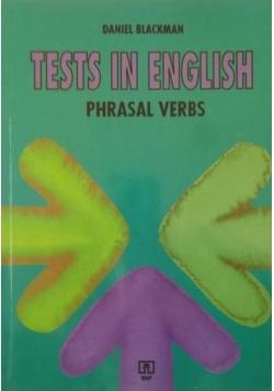 Tests in English. Phrasal Verbs