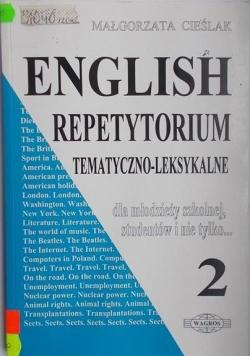 English. Repetytorium tematyczno-leksykalne dla młodzieży szkolnej, studentów i nie tylko… 2