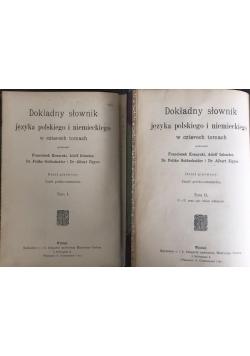 Dokładny słownik języka polskiego i niemieckiego, Tom I-II, 1907 r.