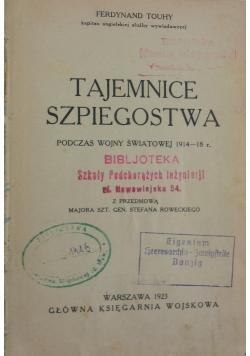 Tajemnice szpiegostwa, 1923 r.