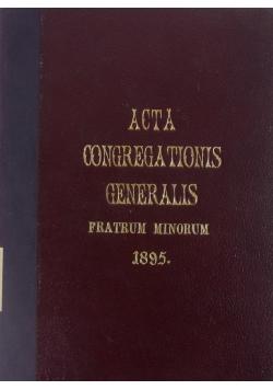 Acta Congregationis Generalis, 1895 r.