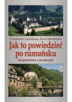 Jak to powiedzieć po rumuńsku