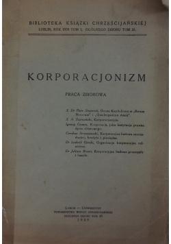 Korporacjonizm, 1939 r.