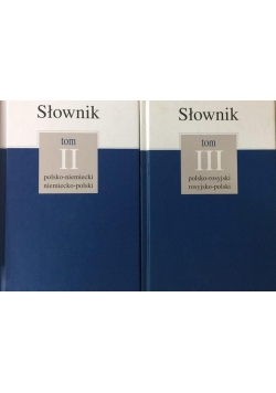Słownik, tom 2 i 3