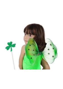 Zielone skrzydełka z różdżką