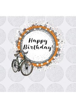 Karnet kwadrat CL0210 Urodziny rower