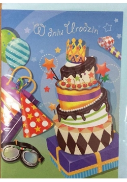 Karnet urodziny B6 Premium 9 + koperta