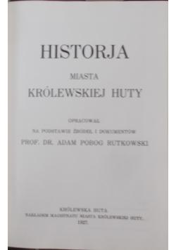 Historja miasta królewskiej Huty, 1927 r.