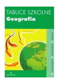 Tablice szkolne Geografia w.2014