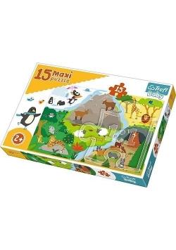 Puzzle 15 maxi Zwierzątka i ich domki TREFL
