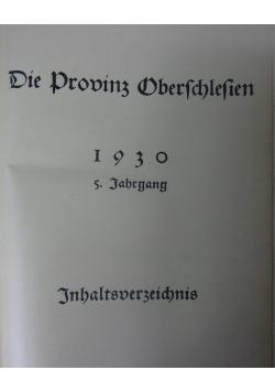 Die Prowinz Oberschlesien, 1930 r.