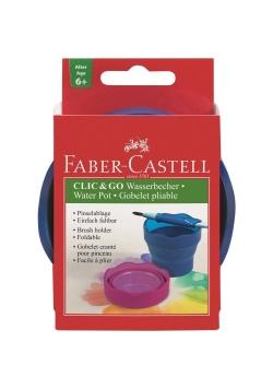 Pojemnik na wodę Click&Go niebieski FABER CASTELL