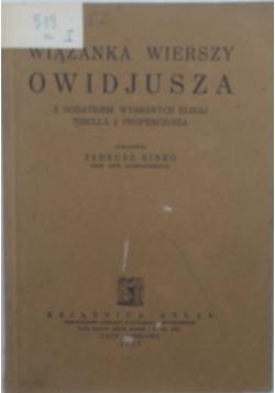 Wiązanka wierszy Owidjusza, 1927 r