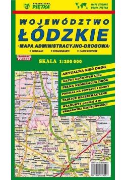 Województwo Łódzkie 1:200 000 mapa samochodowa
