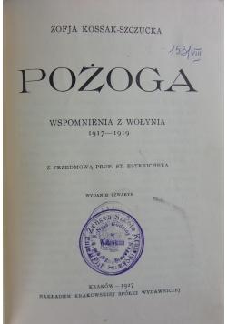 Pożoga,1927r.