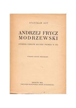 Andrzej Frycz Modrzewski, 1923 r.