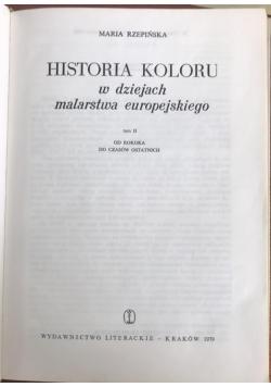 Historia koloru w dziejach malarstwa europejskiego, Tom II