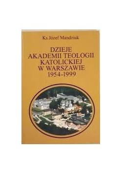 Dzieje akademii teologii katolickiej w Warszawie 1954-1999