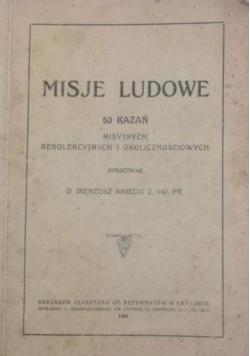 Misje ludowe, 1930 r.
