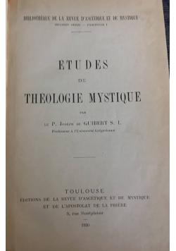 Etudes de Theologie Mystique