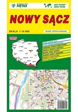 Nowy Sącz 1:16 000 plan miasta PIĘTKA