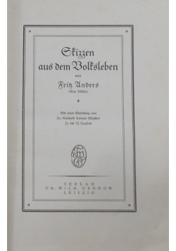 Skizzen aus dem volksleben 1925 r.
